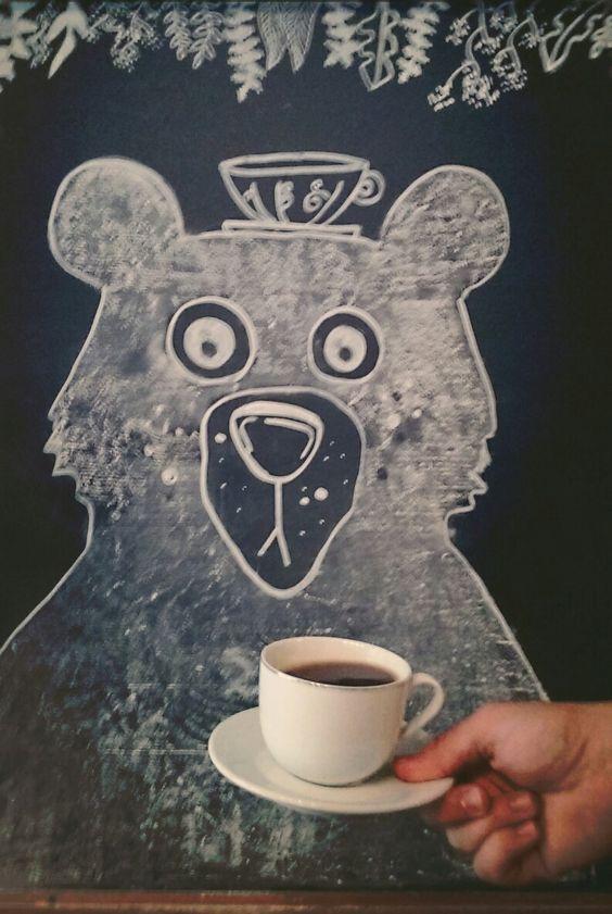 coffee with bear :) KawaLerka  Cracow, poland