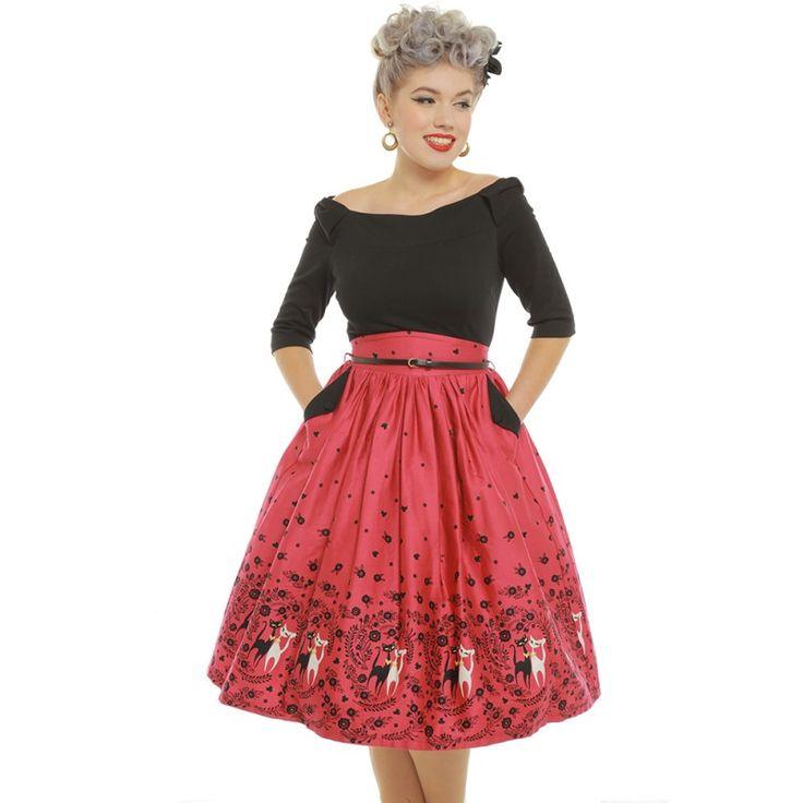 Retro šaty Lindy Bop Cara kočičí dáma