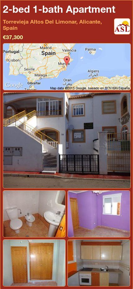 2-bed 1-bath Apartment in Torrevieja   Altos Del Limonar, Alicante, Spain ►€37,300 #PropertyForSaleInSpain