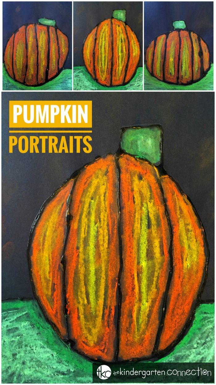 Pumpkin Art Project With Chalk Pastels for a Fall Bulletin Board   – KinderLand Collaborative