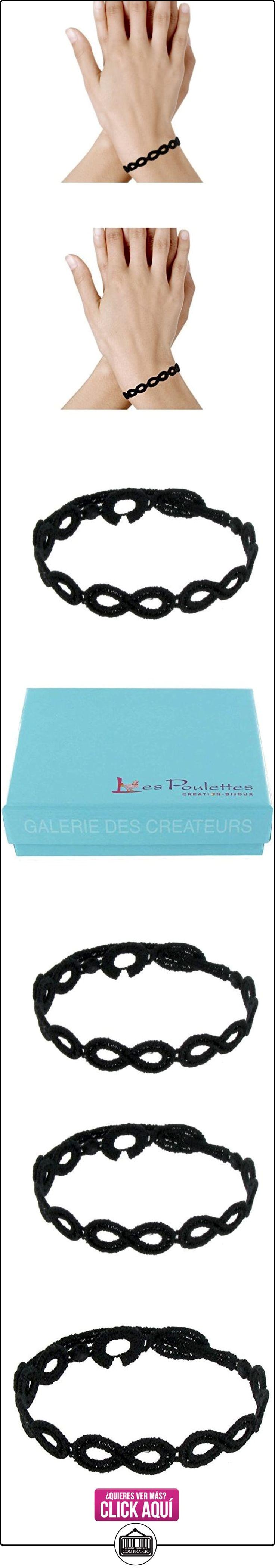 Joyas Les Poulettes - Pulsera Cruciani - Encaje Signo Infinito Color Negro  ✿ Joyas para mujer - Las mejores ofertas ✿ ▬► Ver oferta: http://comprar.io/goto/B00DUBMMVG