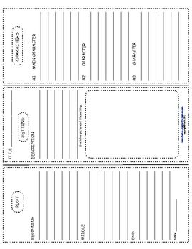 Book Report Trifold Use With Any Novel - Ruth S. - TeachersPayTeachers.com