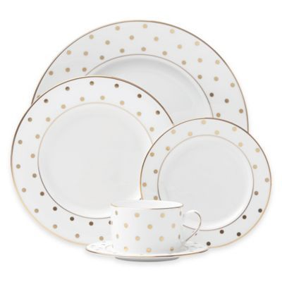 See more detail about kate spade new york Larabee Road™ Gold 5-Piece Place…