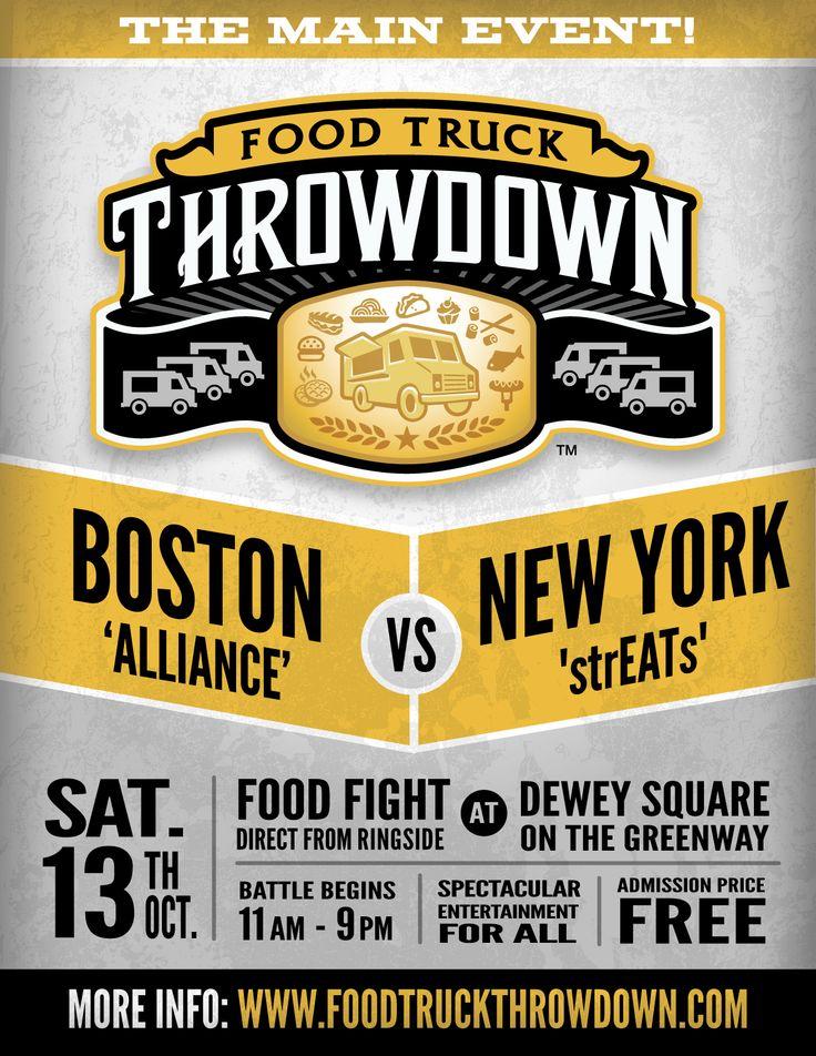 Oct 13 BOSTON vs. NYC FOOD TRUCK THROWDOWN Dewey Square 11am-9pm FREE