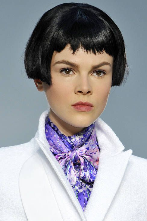 FAD: MOP-TOP WIGS.  While hairstylists sent them down the runways at Marc Jacobs, Chanel, Fendi and L'Wren Scott (shown here), these chopped up wigs are unlikely to make it to the streets.