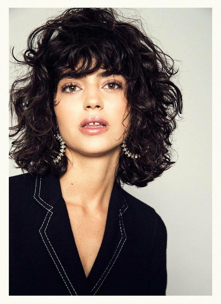 how to cut bangs for curly hair