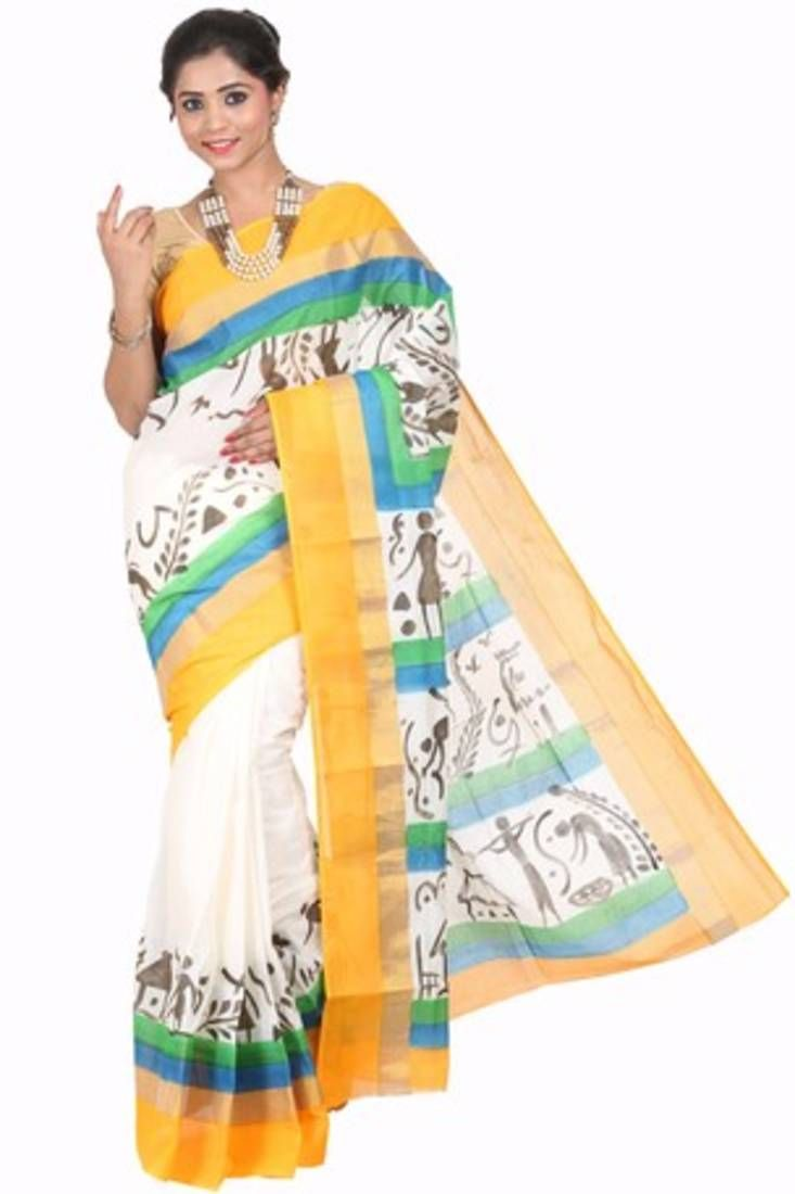 Shop Best Yellow kerala sarees with best collection here at Mirraw.