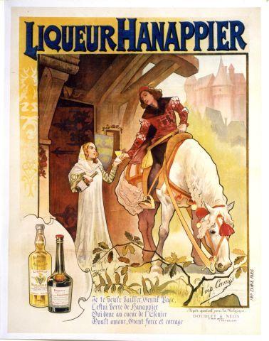 Guydo - Liqueur Hanappier - circa 1895 vintage poster