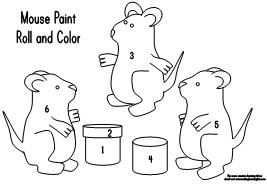 Mouse Paint Coloring Pages Coloring Pages