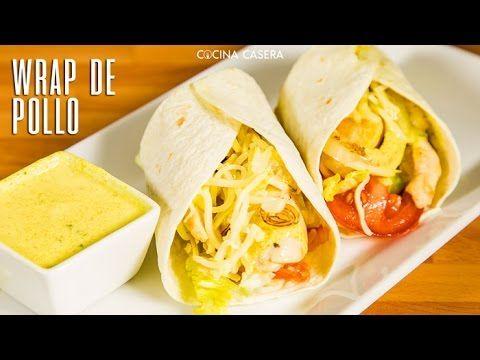 Wraps de Pollo con Salsa de Yogur al Curry