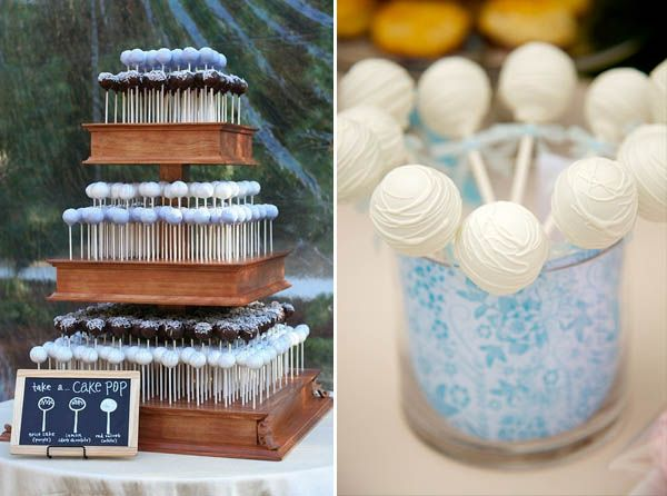 Wedding cake alternative  Cake Pops