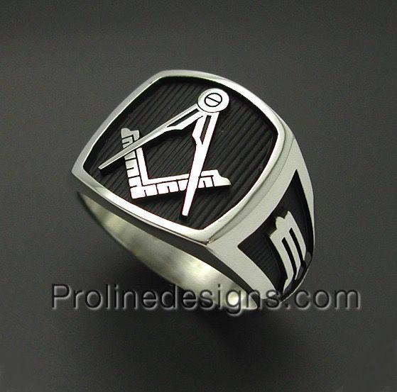 925 Sterling Silver Mens Masonic Ring- Original Design- Handmade-Freemasonry 006B #freemasonry