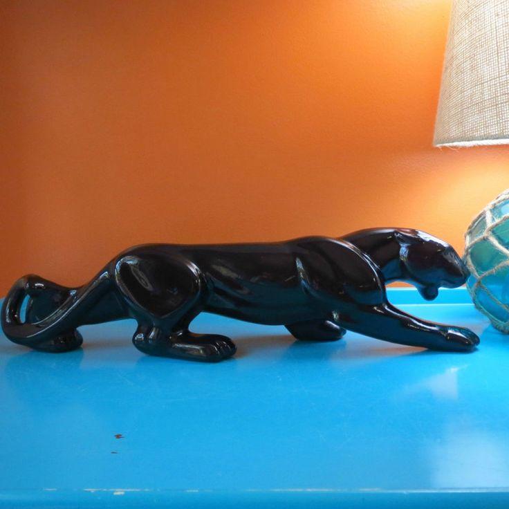 128 best images about pottery ceramics on pinterest ceramics porcelain and vase - Black panther ceramic sculpture ...
