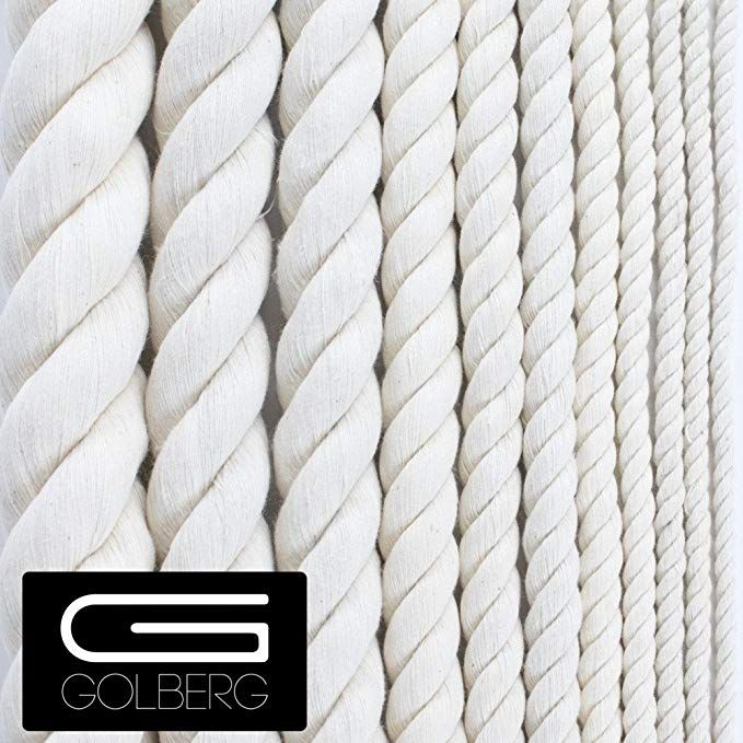 Golberg G Twisted 100 Natural Cotton Rope 5 32 3 16 7 32 1 4 5 16 3 8 1 2 5 8 3 4 1 1 1 4 1 1 2 P Cotton Rope Natural Cotton Pet Toys