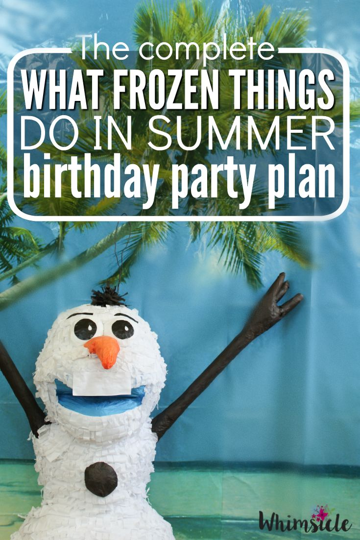 Planning a Frozen themed birthday party can be a little overwhelming.  No worries!  I have a complete Olaf summer party idea for you.  Let me show you the supplies you need, activities and even where to get your cake! (Sponsored)