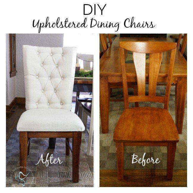 Learn How To Turn All Wood Dining Chairs Into Tufted Upholstered Wood Dining Chairs With A Step Dining Chair Makeover Dining Chairs Diy Reupholster Furniture