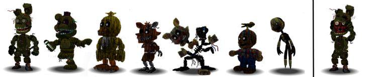 Fnaf 3 Characters Canon by Educraft.deviantart.com on @DeviantArt
