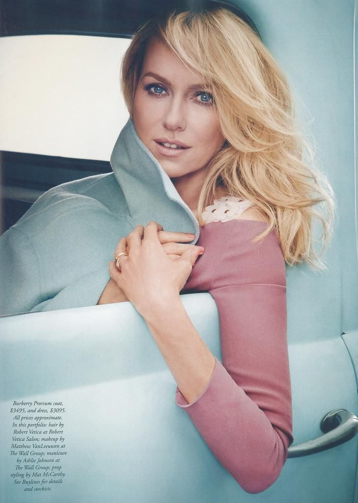 Naomi Watts, photographed by James White for Harper's BAZAAR Australia, May 2014.