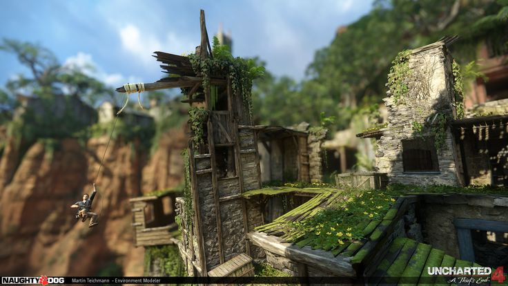 ArtStation - Uncharted 4 - Colony Stacks, Martin Teichmann