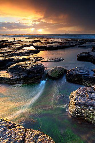Little Austinmer, Illawarra, New South Wales #landscape #seascape #sunrise