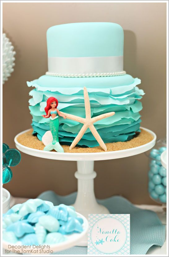mermaid birthday cake - Google Search