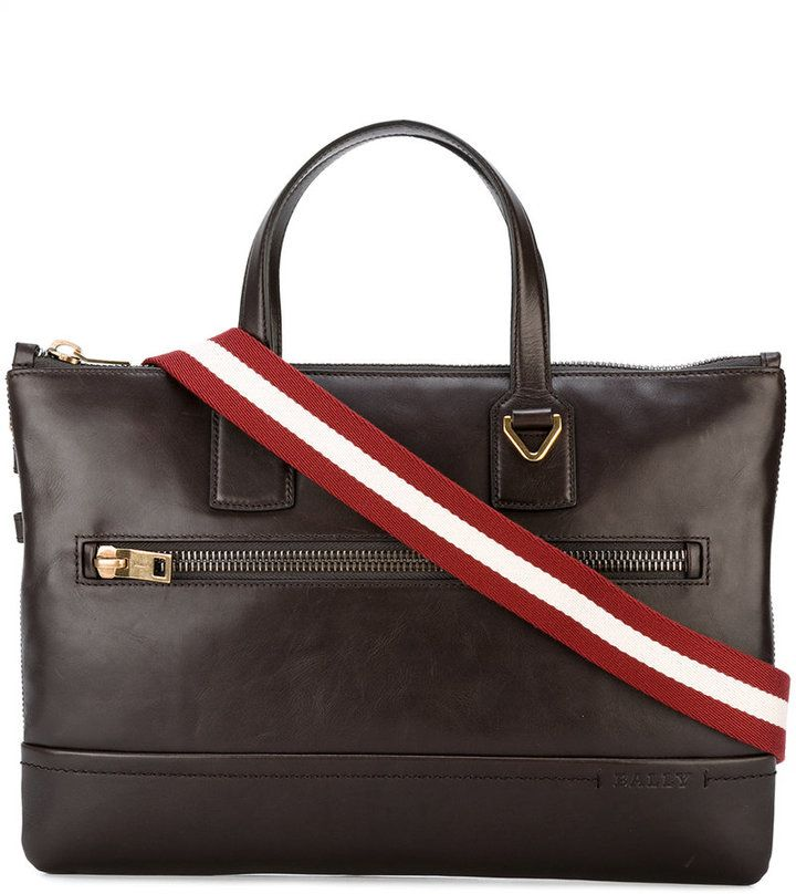 Bally striped strap messenger bag