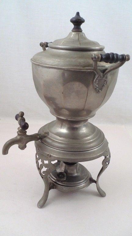 Art Deco 1904 Manning Bowman Meteor Percolator Coffee Maker Pot Stand Burner