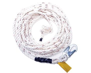 Guardian Fall Protection Standard Vertical Lifeline  w/ 3 Strand White Polydac™ Rope available at http://buymbs.com