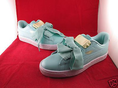 Puma-Basket-Heart-Patent-Jr-Aruba-Blue-3-4-5-6-All-Sizes-SportsLocker-364817-05