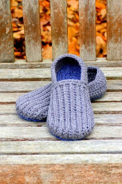 773 Best Crochet Slippersbooties Images On Pinterest Crochet