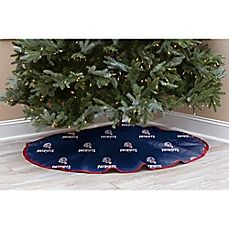 image of NFL New England Patriots 52-Inch Christmas Tree Skirt