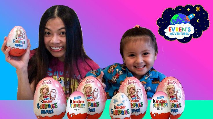 GIANT KINDER BARBIE SURPRISE EGGS! Join Evren and Evren's Mum opening a 4 New Huge Giant Jumbo Kinder Eggs Surprise Barbie, Disney Frozen surprise eggs, Kinder egg surprise for boy. These Kinder chocolate Eggs filled with a lots of surprise toys inside and fun for kids. We think they are super cool toys! Great Kids Video for children who loves opening Giant Kinder Surprise Eggs and Toy Surprise.Thanks for watching! New videos posted weekly.