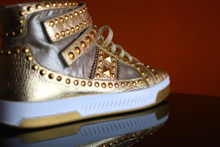 Golden quality. #shoes #studs #fashion