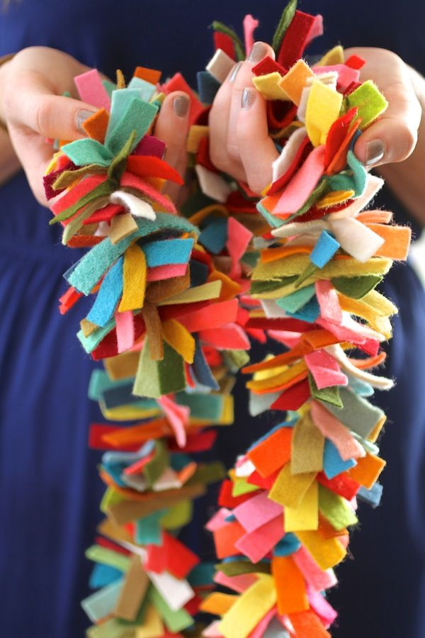 February 3rd: I was looking for a way to use all those felt scraps and found it in the form of this lovely antropology inspired DIY felt garland.