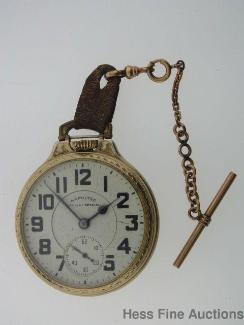 Vintage Hamilton Railway Special Railroad 992B 21J 16s Pocket Watch