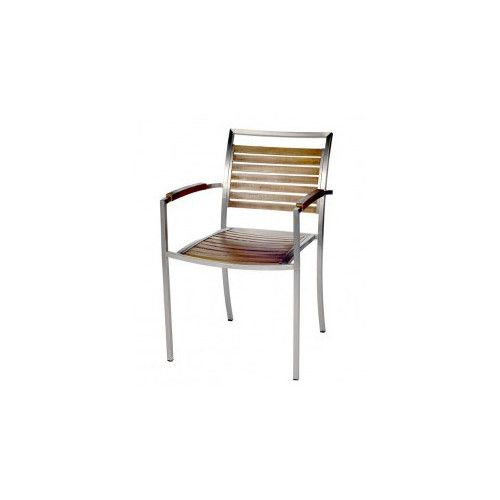 R&V Living Plantation Dining Chair with Arms