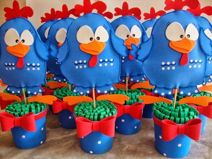 centros de mesa gallina pintadita - Buscar con Google