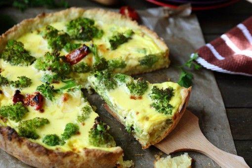 receta de quiche de brocoli