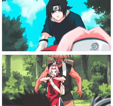 Sakura and Sasuke   Naruto Gifs   Naruto sasuke sakura ... Naruto Shippuden Naruto And Sakura Kiss