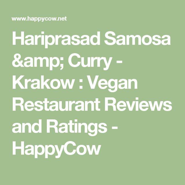 Hariprasad Samosa & Curry - Krakow  : Vegan Restaurant Reviews and Ratings - HappyCow