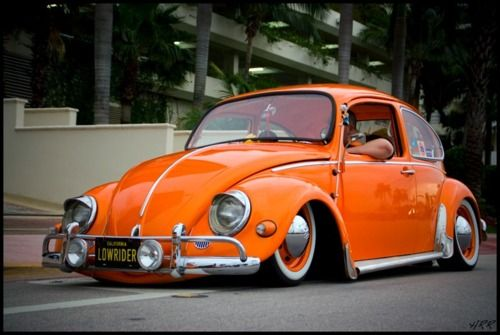 "VW Beetle ""orange lowrider"""
