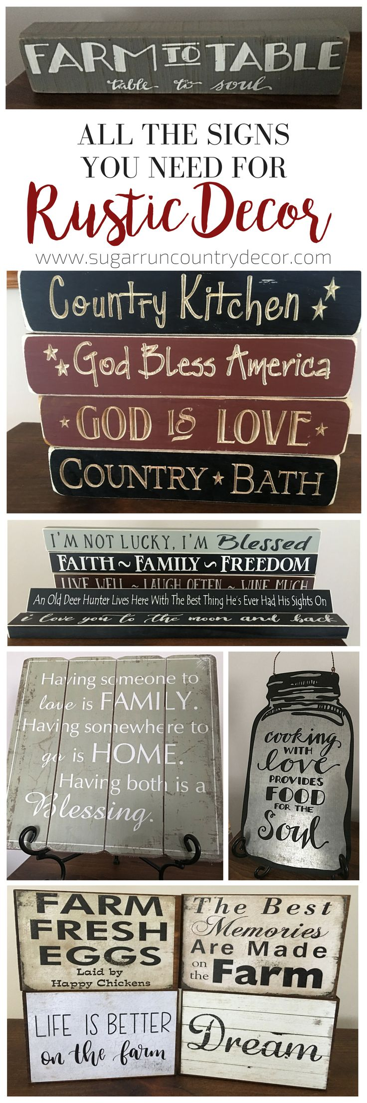 Shop All Rustic, Wooden Signs Now! Perfect for Rustic Home Decor Of All Themes!