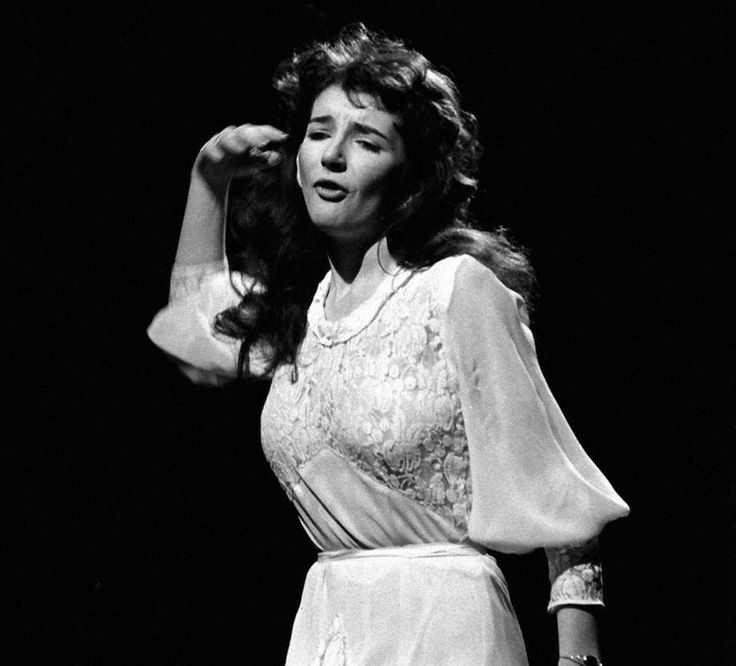 1978 Rare photo of Kate Bush, by photographer Don Smith, performing Wuthering Heights at the BBC