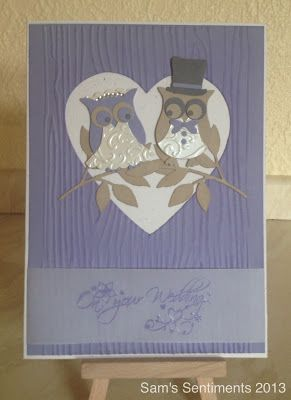Made using the fabulous Stampin' Up Owl Builder Punch
