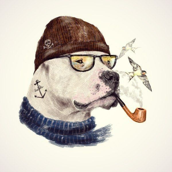 Крутые собаки рисунки