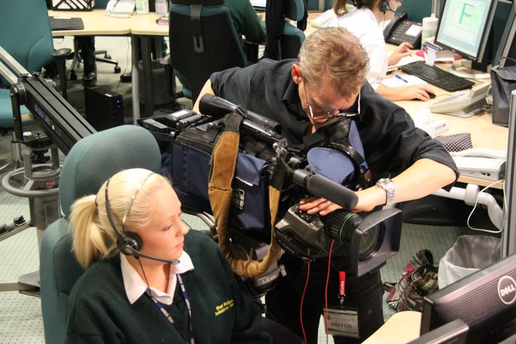 Kayleigh Southall is filmed answering a 999 call in West Midlands Ambulance Services's state of the art control centre at Brierley Hill, Dudley.