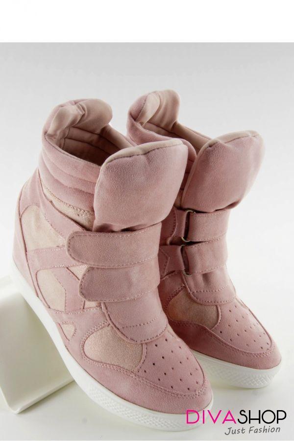 Botine dama roz Inello