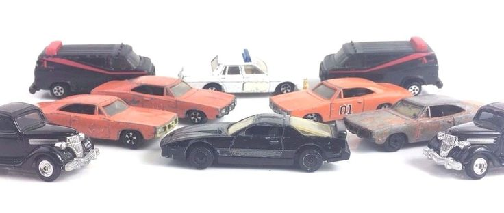 ERTL LOT OF 10 A-TEAM NIGHT RIDER DUKES OF HAZARD DICK TRACY DIE CAST TV MOVIES