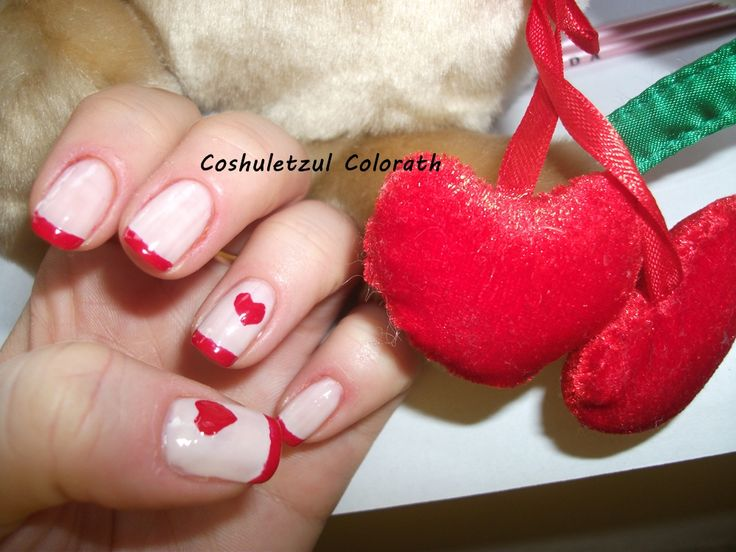 valentine's day nails, heart, Essence