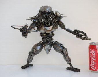 Ogro Titanfall chatarra Metal escultura modelo reciclado hecho